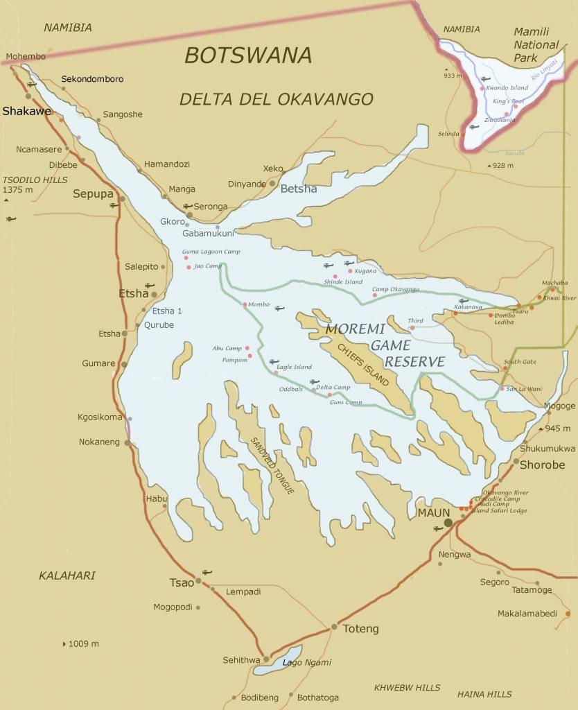 Okavango-Delta-Map