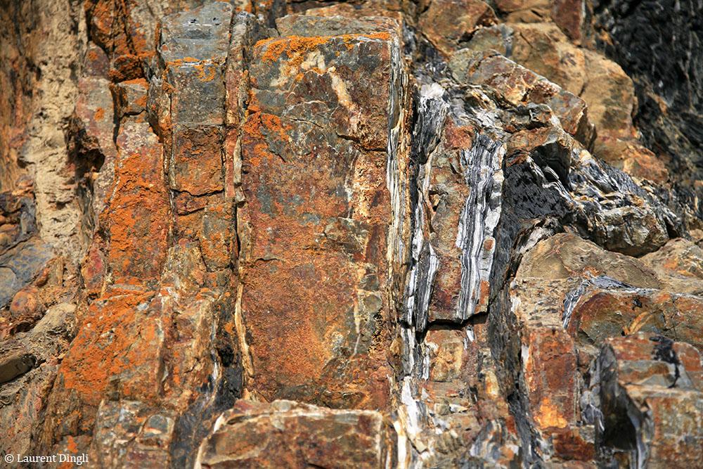 Détail de la roche - Pointe de Dinan - © Laurent Dingli - Tous droits réservés