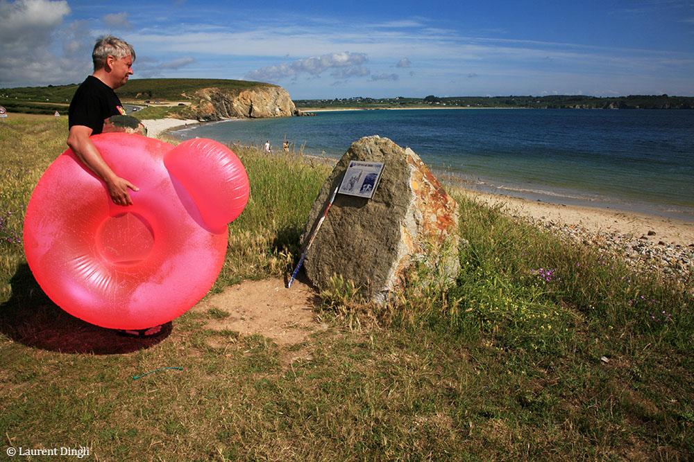 Touriste sur la plage de Kerloc'h © Laurent Dingli - Tous droits réservés